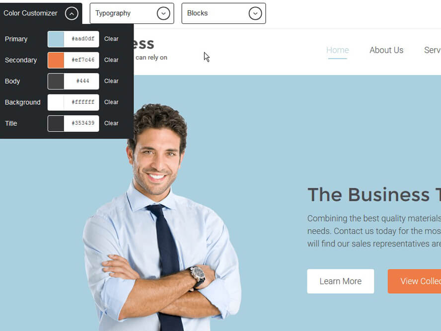 Visual composer business theme